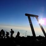 外国人を連れて富士山の頂へ:インバウンド