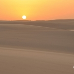 白い砂漠の夕景:レンソイス縦断トレッキング(ブラジル)