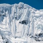 ペルー・ブランカ山群:ワンツァン峰の大氷壁を定点観測