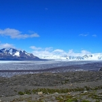 パタゴニア南部氷原:ビエドマ氷河とデル・ビエント峠