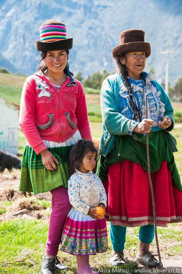 ペルーアンデス民族の民族衣装