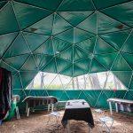 パタゴニア・フィッツロイ山麓の常設テント