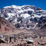 南米最高峰アコンカグアへ③:オルコネス氷河から南壁の大絶壁へ