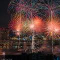 """Fuegos artificiales """"HANABI"""" que simbolizan el verano japonés"""