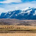 """ボリビア""""帝王の山脈""""レアル山群5つの名峰/アンデス高原から望む"""